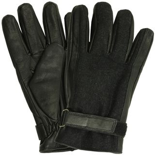 Isotoner Mens Leather Insulated Lined Winter Gloves