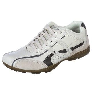 Skechers USA Mens Striking Off white Casual Oxfords