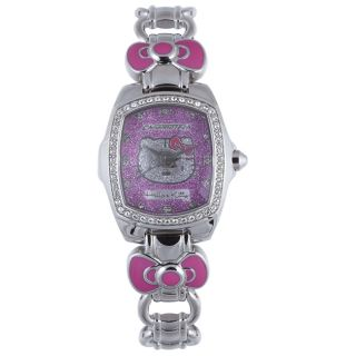 Hello Kitty Kids Pink Dial Gemstone Stainless Steel Watch