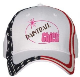 PAINTBALL Chick USA Flag Hat / Baseball Cap Clothing