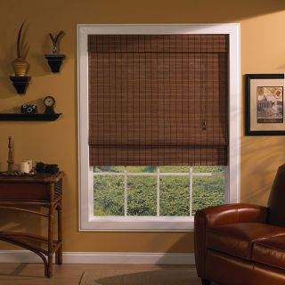 Maya Fruitwood Roman Shade (35 in. x 72 in.)
