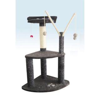Arbre à chat Stripe 95cm 2 plateformes + access.   Achat / Vente