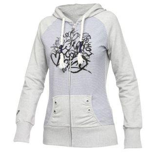 Coloris : gris et bleu nuit. Veste zippée ROXY Femme, 96 % coton, 4 %