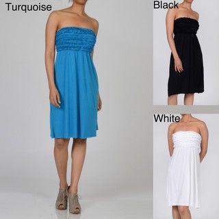 Water Water by Elan Womens Ruffled Sleeveless Dress
