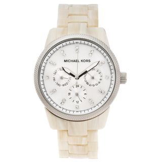 Michael Kors Womens Ritz Faux Horn Multifunction Watch