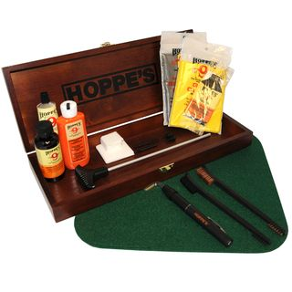 Hoppes Pistol Cleaning Kit with Wooden Storage Box