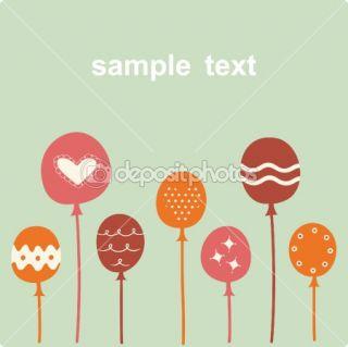 Balloon birthday card design  Stock Vector © jinru huang #2241552