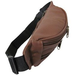 Top grain Cowhide Leather Fanny Pack with 40 inch Belt