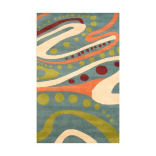 Indo Hand tufted Teal/ Green Wool Rug (5 x 8) Today $239.99