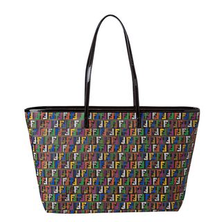 Fendi Multi colored Zucchino Print Roll Tote Bag