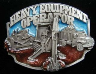 Heavy Equipment Operator Colored Belt Buckle Clothing