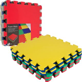 Multi color 8 piece EVA Foam Exercise Mat Set