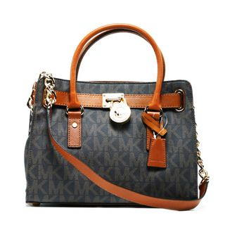 Michael Kors Hamilton East/West Brown Logo Satchel