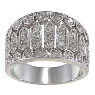 Sterling Silver 3/4ct TDW Diamond Vintage style Ring
