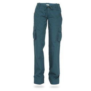 Modèle Phobi. Coloris Vert. Pantalon femme coupe large avec cordon