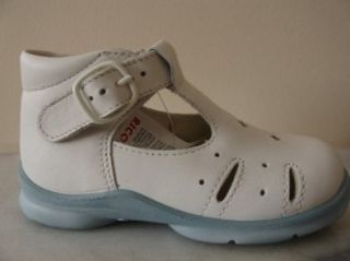 shoes, White leather sandals with light blue sole, 23 M EU Shoes