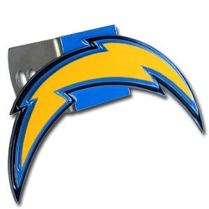 San Diego Chargers Pewter Logo Trailer Hitch Cover Sports