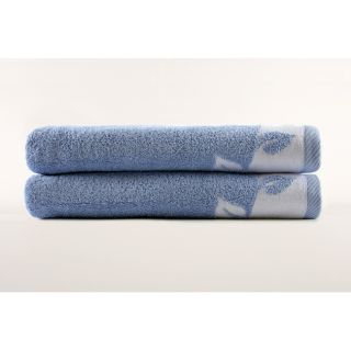 Blue Spring Leaves 100 percent Turkish Cotton Bath Towel Set