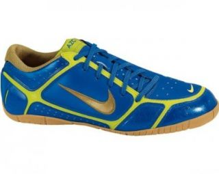INDOOR FIRM SURFACE SOCCER 13 (BLUE SPARK/MET GOLD/BRIGHT CCT) Shoes