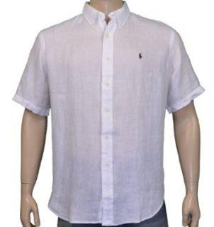 Polo Ralph Lauren Linen Button Down Shirt White Size XL
