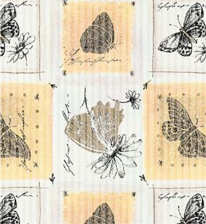Rippled Texture Botanical Butterfly Gift Wrap (100 ft)
