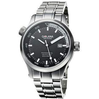 Golana Swiss Mens Aqua Pro 100 Stainless Steel Watch