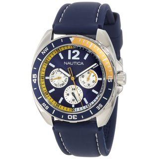 Nautica Mens Sport Ring N09915G Blue Resin Quartz Blue Dial Watch