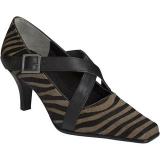 Womens Aerosoles Heavy Metal Zebra Black Mink