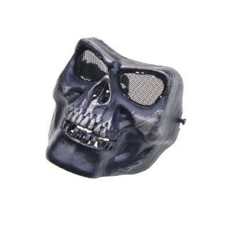 Black Death Skull Bone Army Airsoft Paintball Full Face