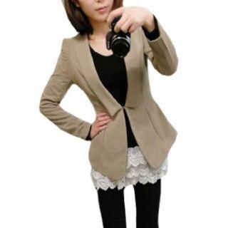 Allegra K Woman Point Collar Long Sleeve Blazer Jacket