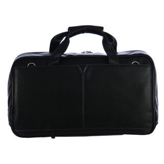 Johnston & Murphy Black Leather 20 inch Carry on Cabin Duffel Bag
