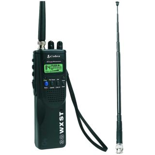 Cobra Hand Held 38 WX ST 4 mile 40 channel CB Radio with Antenna