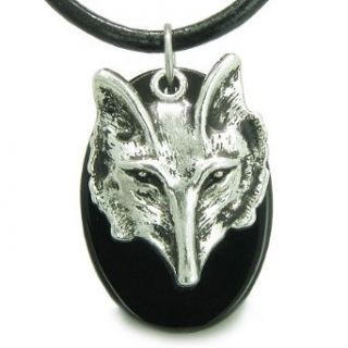 Amulet Courage and Wise Wolf Head Spiritual Protection
