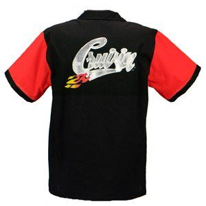 Cruisin Bowling Shirt Red & Black Retro Bowler Clothing
