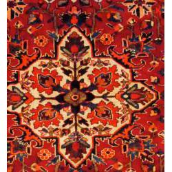 Persian Hand knotted Red/ Blue Bakhtiari Wool Rug (99 x 103