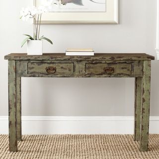 Safavieh Carl Antique Green Console Table
