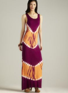 Romeo & Juliet Couture Tie Dye Printed Scoop Neck Maxi Dress Today $