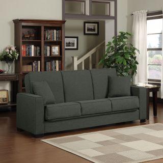 Portfolio Mali Convert a Couch® Charcoal Gray Linen Futon Sofa