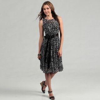 Jessica Howard Womens Black/ Ivory Dress