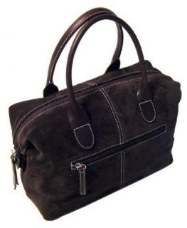 Floto Chiara Brown Leather & Suede Handbag purse Clothing