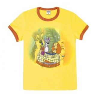 Lady & The Tramp   Pasta Girls Youth Ringer T Shirt