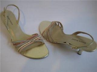 SCOTT SYLVIE GOLD STRAPY SANDAL WOMEN SIZE 9.5M KAREN SCOTT Shoes