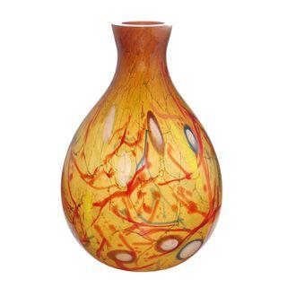 Jozefina European Hand blown Flirtatious Venice Glass Vase