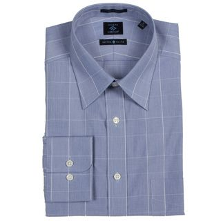 Joseph Abboud Mens Blue/ White Dress Shirt