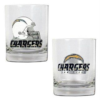 San Diego Chargers Nfl 2Pc Rocks Glass Set   Primary Logo