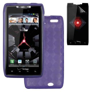 Deluxe Motorola Droid RAZR TPU Case/ Screen Protector