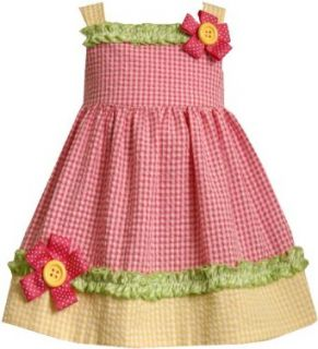 Bonnie Jean Girls 2 6x Seersucker Dress With Flower