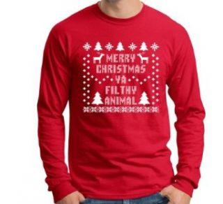 Merry Christmas Ya Filthy Animal Long Sleeve T Shirt Funny