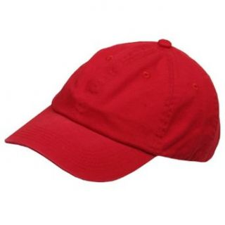Youth Washed Chino Twill Cap Red W19S23C Clothing