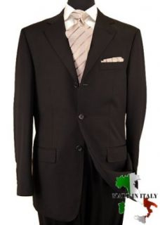 Nicoletti Wool / Cashmere Mens Suit 3 Button Flat Front